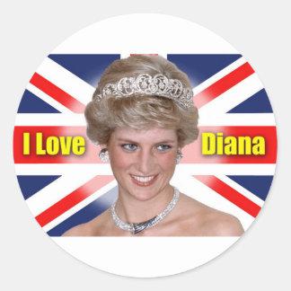 「私はダイアナ」HRHのプリンセスダイアナ愛します ラウンドシール
