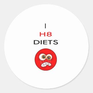 私はダイエットを憎みます ラウンドシール