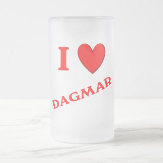 私はダグマールを愛します フロストグラスビールジョッキ