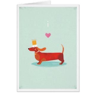私はダックスフントを愛します カード