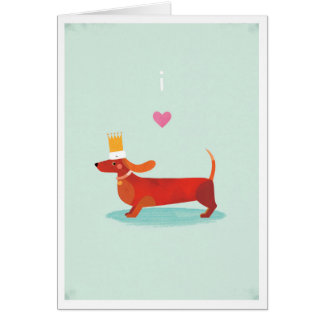 私はダックスフントを愛します グリーティングカード