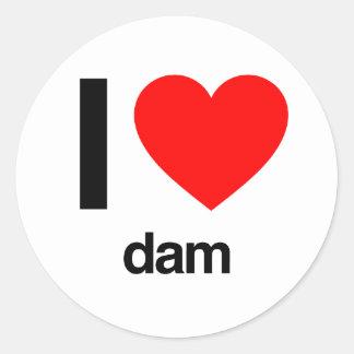 私はダムを愛します ラウンドシール