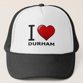私はダラム、NC -ノースカロライナ--を愛します キャップ