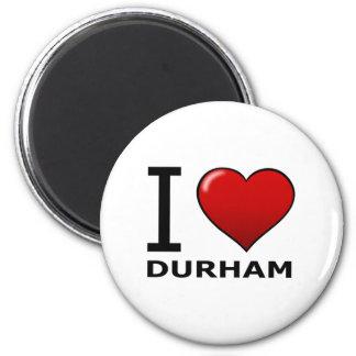 私はダラム、NC -ノースカロライナ--を愛します マグネット