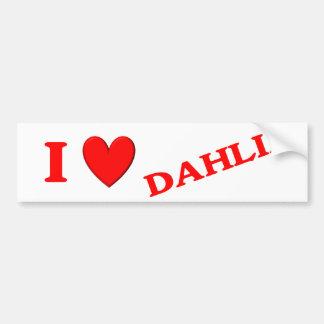 私はダリアを愛します バンパーステッカー