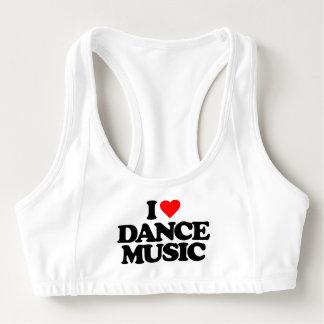 私はダンス音楽を愛します スポーツブラ