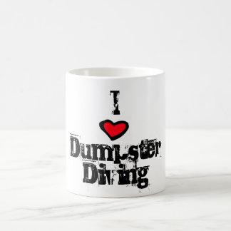 私はダンプスターのダイビングを愛します コーヒーマグカップ