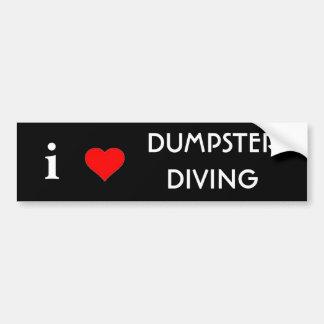 私はダンプスターのダイビングを愛します バンパーステッカー