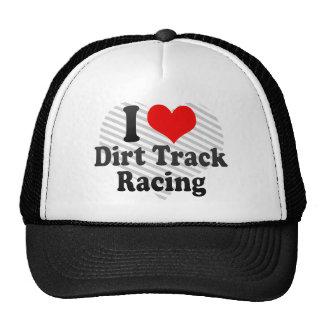 私はダートトラックの競争を愛します キャップ