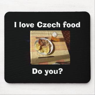 私はチェコの食糧を愛します マウスパッド