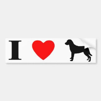 私はチェサピーク・ベイ・レトリーバーを愛します バンパーステッカー