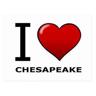 私はチェサピーク、VA -ヴァージニア--を愛します ポストカード