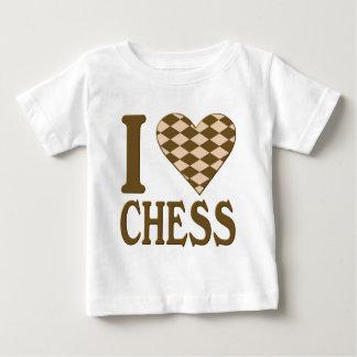 私はチェスのワイシャツを愛します ベビーTシャツ