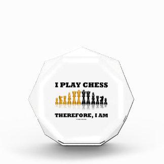 私はチェスを、私あります遊びます従って(チェスのこまセット) 表彰盾