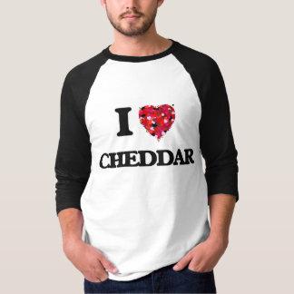 私はチェダーを愛します Tシャツ