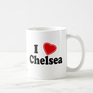 私はチェルシーを愛します コーヒーマグカップ