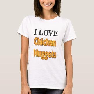 私はチキン・ナゲットのおもしろいのワイシャツを愛します Tシャツ