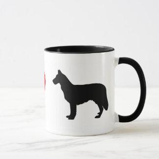 私はチヌックのマグを愛します マグカップ