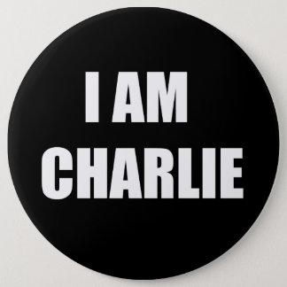 私はチャーリーです 15.2CM 丸型バッジ