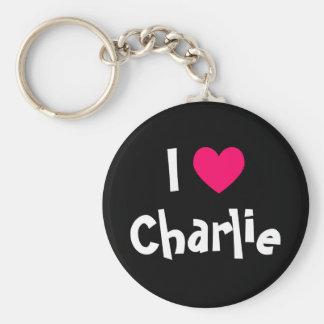 私はチャーリーを愛します キーホルダー
