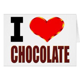 私はチョコレートを愛します カード
