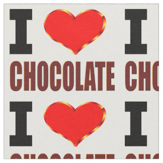 私はチョコレートを愛します ファブリック