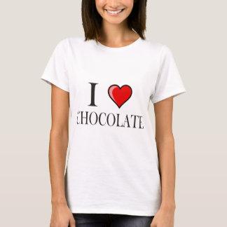 私はチョコレートを愛します Tシャツ
