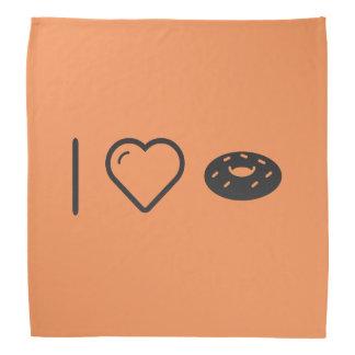 私はチョコレートドーナツを愛します バンダナ