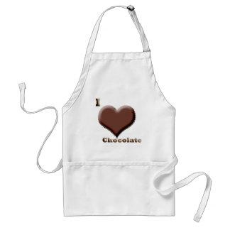 私はチョコレート12-12-08を愛します スタンダードエプロン
