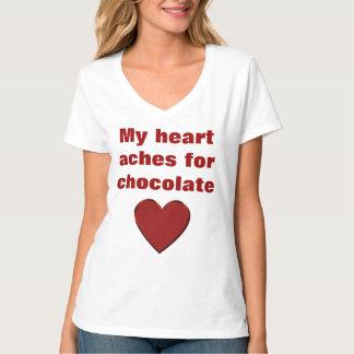 私はチョコレートTシャツを愛します Tシャツ