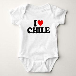 私はチリを愛します ベビーボディスーツ