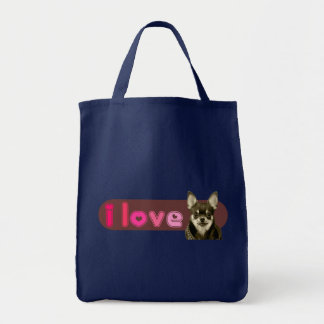 私はチワワのバッグを愛します トートバッグ