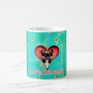 私はチワワを11のozのコーヒー・マグ愛します コーヒーマグカップ