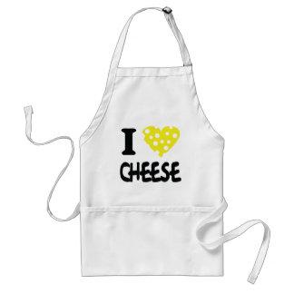 私はチーズアイコンを愛します スタンダードエプロン