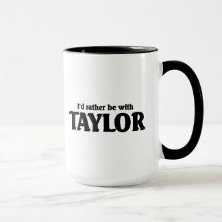 私はテイラーとむしろあります マグカップ