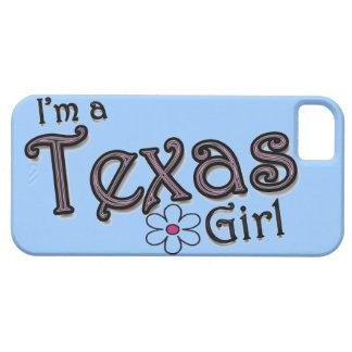私はテキサス州の女の子、花、青いiPhoneカバーです iPhone SE/5/5s ケース