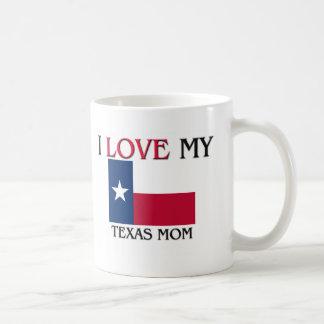 私はテキサス州の私のお母さんを愛します コーヒーマグカップ
