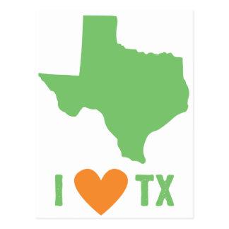 私はテキサス州の緑およびオレンジを愛します ポストカード