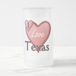 私はテキサス州を愛します フロストグラスビールジョッキ