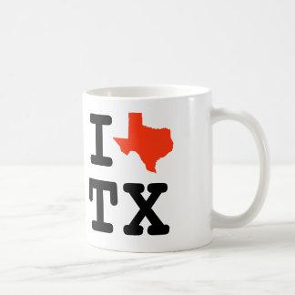 私はテキサス州- IのハートTXのコーヒー・マグ--を愛します コーヒーマグカップ