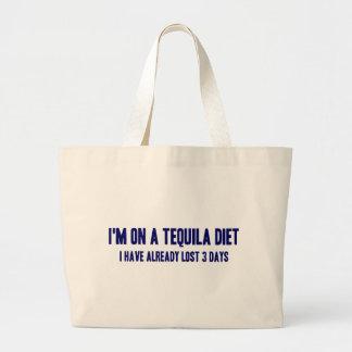 私はテキーラのダイエットにあります ラージトートバッグ
