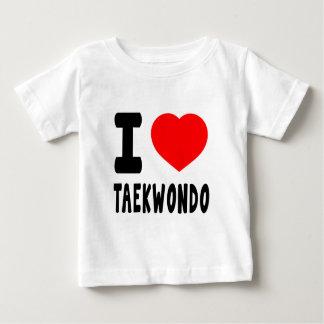 私はテコンドーを愛します ベビーTシャツ