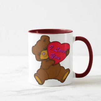私はテディ愛します マグカップ