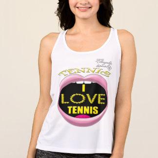 私はテニスの性能のタンクトップを愛します タンクトップ