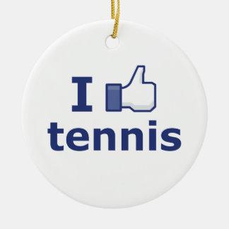 私はテニスを好みます セラミックオーナメント