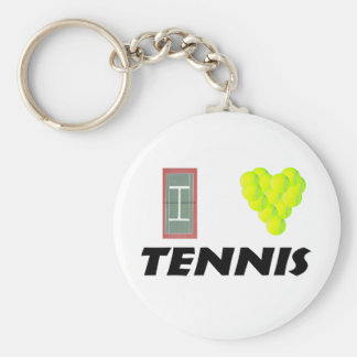 私はテニスを愛します キーホルダー