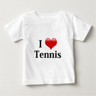 私はテニスを愛します ベビーTシャツ