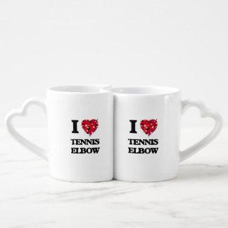 私はテニスエルボーを愛します ペアカップ