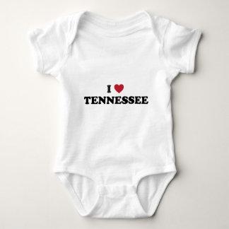 私はテネシー州を愛します ベビーボディスーツ