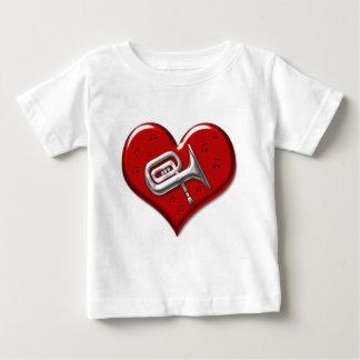 私はテューバを愛します ベビーTシャツ